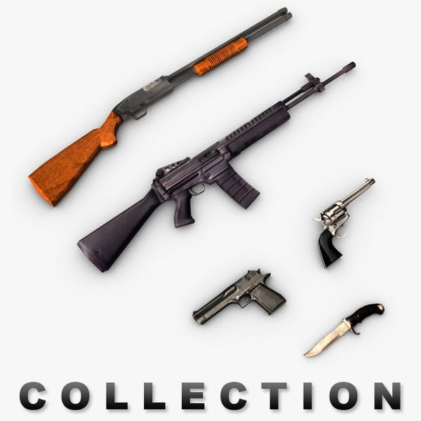 Modern weapons collection